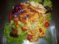 Puten salat mit Putenstreifen